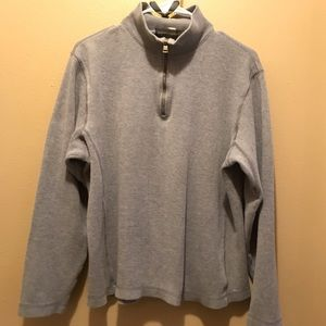 Banana Republic 1/4 zip pullover in grey/blue. Med